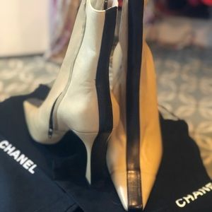 Chanel Boots- NEVER WORN. Shoe bags and box